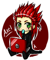 Kingdom Hearts- Axel Chibi by akitatoma