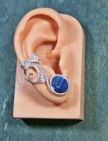 Kyanite and Silver Lucky 7 Ear Cuff by HeatherJordanJewelry