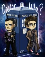 Doctor who 9th and 10th doctor chibi by skylord1015