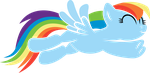Rainbow Dash Jumping by imageconstructor