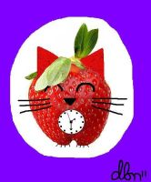 Strawberry Kitty Time by fayefujiko