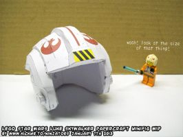 Papercraft LEGO Star Wars Luke Skywalker WIP by ninjatoespapercraft