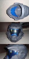 Halo Reach WIP 2 - Noble Six Visor by Ivorybacon