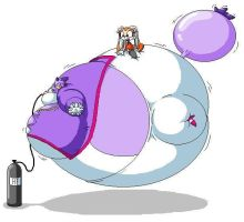 Blaze the Cat ballooned by Pervertix