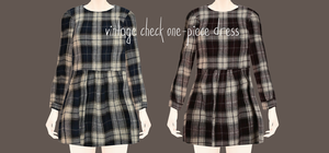 Vintage check one-piece dress Download by Mari-Ichi