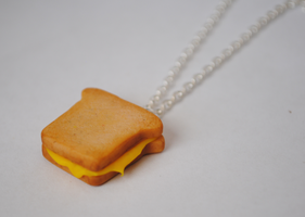 Grilled Cheese Sandwich Necklace by ClayRunway