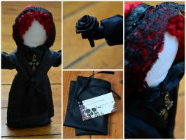 Victorian Era Style Mourning Doll by IdolRebel