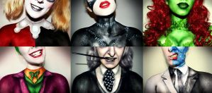 Chest Collage of Batman Characters by XxXTABSXxX