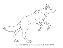 Design a Wolf Contest Lineart by Tailchaser-Bria