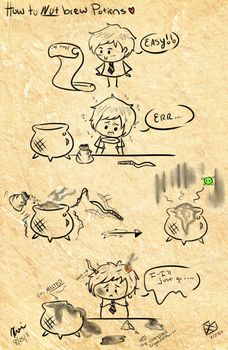 Potions in Pottermore by rhodecyl