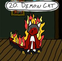 Demon Cat by J2571