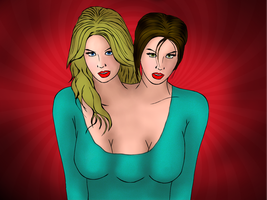 Ines and Ewa by TheDunno