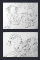 Wolf and Dragon by Blackpassion777