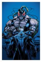 Batman vs Bane colors by RCarter