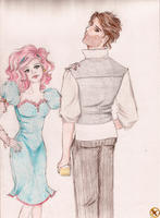 Haymitch and Effie _Sketch_ by Morrigan22