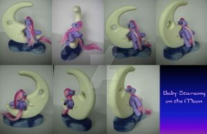My little Pony Custom G3 Baby Starsong on the Moon by BerryMouse