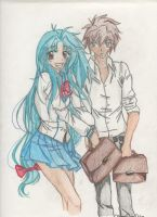 Souske and Kaname by michelle-deleon