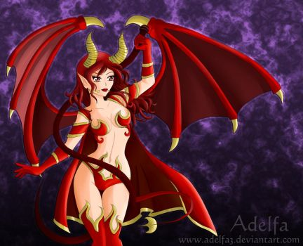 Kendra, The Lady of Fire by Adelfa3