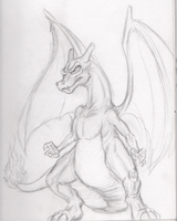 Charizard Sketch by BenRusk