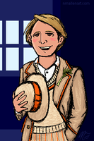 The 5th Doctor for Aemilius by TerribleToadQueen