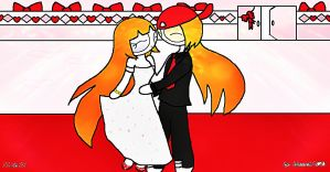 Blossom Bride and Brick Groom Forever by blossick1620