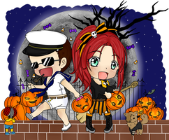 Halloween Collab by LeonandClaireBSAA