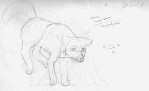 Sketch of a wolf by BullSwag