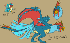 Neopets: Syressen the Mutant Pteri by Iron-Zing