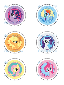 MLP FiM Badges!! by mlpAzureGlow