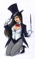 zatanna colored by yooweebaloowee