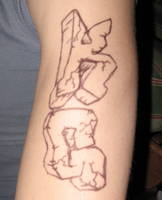 hahhahaha fake ass tattoo by Good-Bye-Designs
