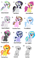 MLP Shipped Adoptable Fillies - Sheet 3 - CLOSED by iPandacakes