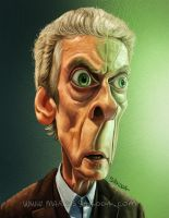 Peter Capaldi - Doctor Who Caricature by Jubhubmubfub