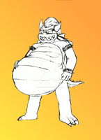 Bowser, King of Gluttony (Vore... probably) by LordWeegee64