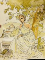 WonderCon Sketches Padme by YanickPaquette
