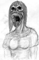 Mutated Female Zombie Concept by Iron-Fox