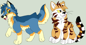 Some doods by Toby-Wolfkat