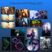 Tagwall: 2013 - 2014 by HappyFaceStar