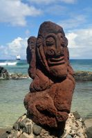 Stone carving 2 - Easter Island by wildplaces