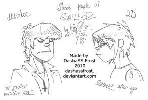 Murdoc and 2D by dashassfrost