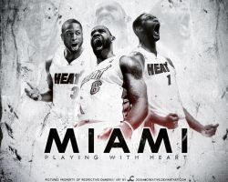 Miami Heat Wallpaper by josiancreative