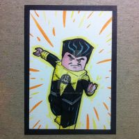 LEGO Sinestro sketchcard by thesometimers