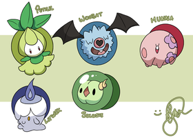 Pokemon Stickers of Sorts or Something by Starforsaken101