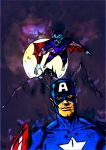 Captain America in the shadow of the Vampire by masuros