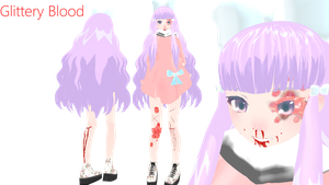 {MMD} Glittery Blood by ArbitraryLen