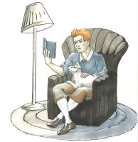 TINTIN is reading... by kain-was-here