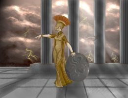 Goddess Athena by Magnet-Rose