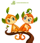 Daily Paint #1175. Leaf Monkeys by Cryptid-Creations