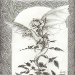 Dragon Rose -pencil by artaddict