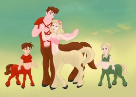 Copdence Centaur Couple with Greg and Yippy by hershey990